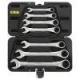 Набор ключей комбинированных трещоточных BERGER BG-7SСRW, 7 предметов