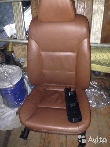 Передние сиденья BMW (БМВ) E60 коричневая кожа б/у