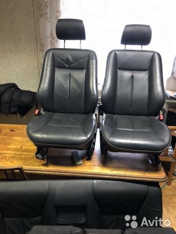 Комплект сидений Mercedes-Benz W210 95-00 чёрная кожа