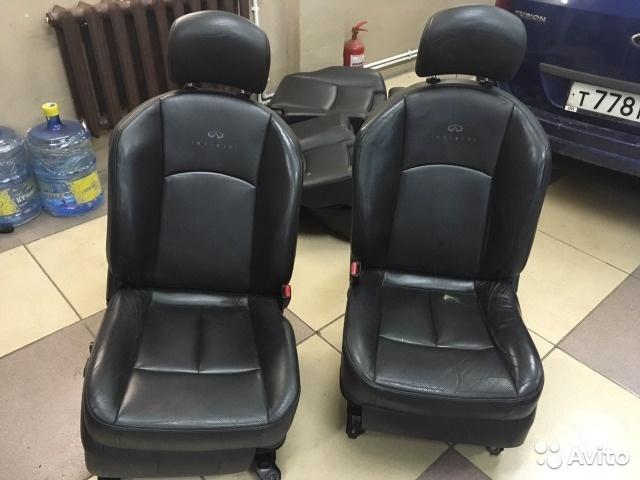 Комплект сидений Infiniti FX-35, FX-45 чёрная кожа