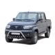 Защита переднего бампера УАЗ Патриот(2014-) низкая, с доп.защитой(НПС)