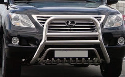 Кенгурятник из нержавеющей стали D76 для Lexus LX570. Копия с оригинала.