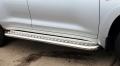 Пороги с площадкой из полированной нержавеющей стали для Toyota Land Cruiser 200