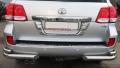 Защита заднего бампера (уголки) из полированной нержавеющей стали Toyota Land Cruiser 200