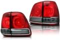 Фонари задние светодиодные тонированные в стиле Land Cruiser 200 (комплект)