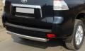 Защита заднего бампера центральная 75х42 мм Toyota Land Cruiser Prado 150