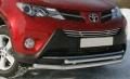 Защита переднего бампера нижняя 60,3/42,4 мм для Тойота Рав 4