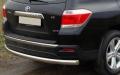 Защита заднего бампера центральная 75х42 мм для Тойота Хайлендер