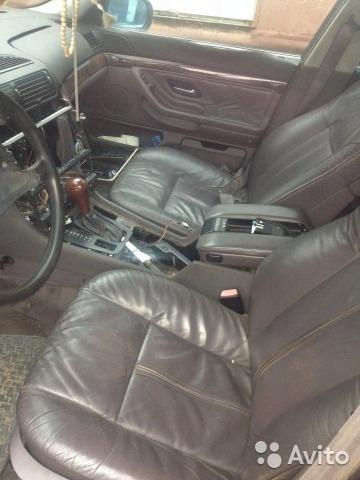 Кожаный салон BMW E38 тёмно-коричневый