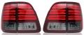 Фонари задние светодиодные тонированные в стиле Lexus (комплект) для Toyota Land Cruiser 100