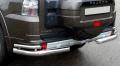 Защита заднего бампера (двойные уголки) 76,1/42,4 мм для Мицубиси Паджеро IV