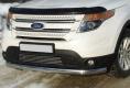 Защита переднего бампера овальная 75х42 мм для Форд Эксплорер