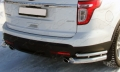 Защита заднего бампера (двойные уголки) 76,1/42,4 мм для Форд Эксплорер